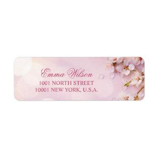 Cherry Blossom Elegant Return Address Labels