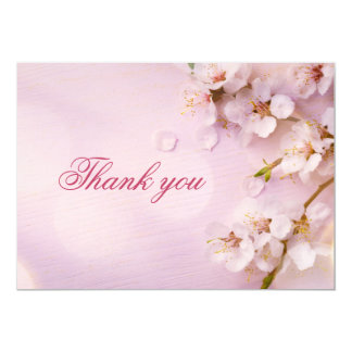 Cherry Blossom Elegant Wedding Thank You Cards