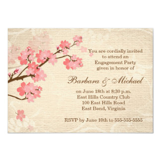 Cherry blossom Engagement Party Invitation