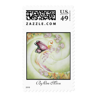 Cherry Blossom Faery Postage Stamps