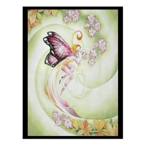 Cherry Blossom Faery Postcard