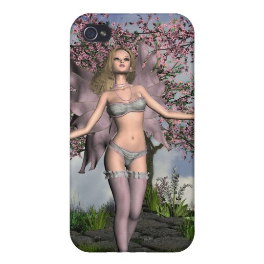 Cherry Blossom Fairy with Cherry Tree background iPhone 4/4S Cover