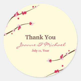 Cherry Blossom Favour Stickers