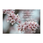 Cherry Blossom Floral Canvas Print