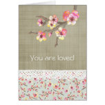 Cherry Blossom Floral Card