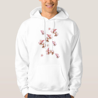 Cherry Blossom Floral Hooded Pullover
