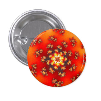 Cherry Blossom Floral Sprinkles Small Round Button