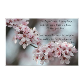 Cherry Blossom Floral Tolerance Canvas Print