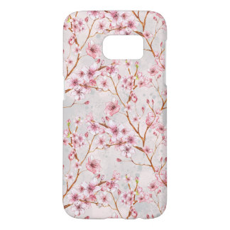 Cherry Blossom Flowers Branch Pink Blooms Samsung Galaxy S7 Case