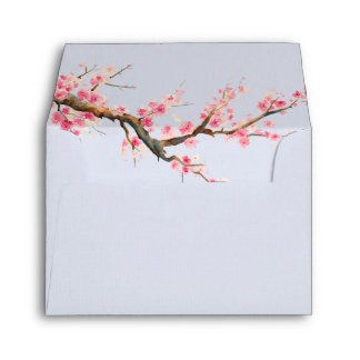 Cherry Blossom Flowers Envelope