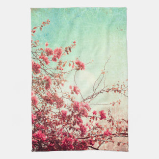 Cherry Blossom Flowers Floral Kitchen Dish Towel