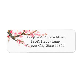 Cherry Blossom Flowers Label
