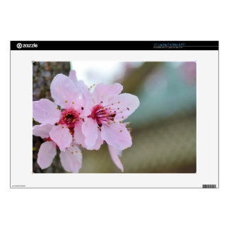 """Cherry Blossom Flowers on a Tree 15"""" Laptop Skin"""