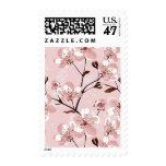 Cherry Blossom Flowers Pattern Postage Stamp