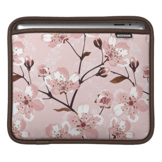 Cherry Blossom Flowers Pattern Sleeve For iPads