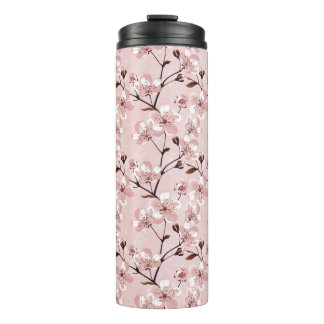 Cherry Blossom Flowers Pattern Thermal Tumbler