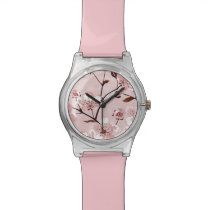 Cherry Blossom Flowers Pattern Wristwatch