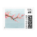 Cherry Blossom Flowers Postage Stamps