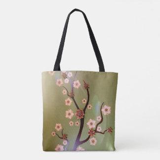 Cherry Blossom Flowers Purse Handbag Tote