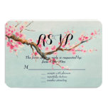 Cherry Blossom Flowers RSVP 3.5x5 Paper Invitation Card