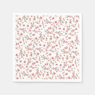 Cherry Blossom Flowers Paper Napkin