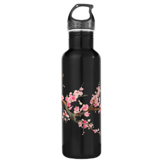 Cherry Blossom Flowers Water Bottle