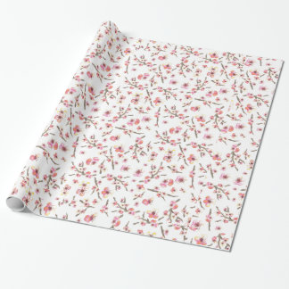 Cherry Blossom Flowers Gift Wrap