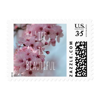 Cherry Blossom Flowers You are Beautiful Postage
