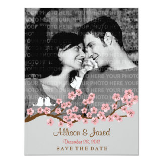 "Cherry Blossom Garden Save the Date Photo 4.25"" X 5.5"" Invitation Card"