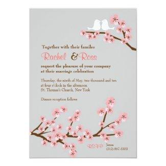 Cherry Blossom Garden Wedding Card