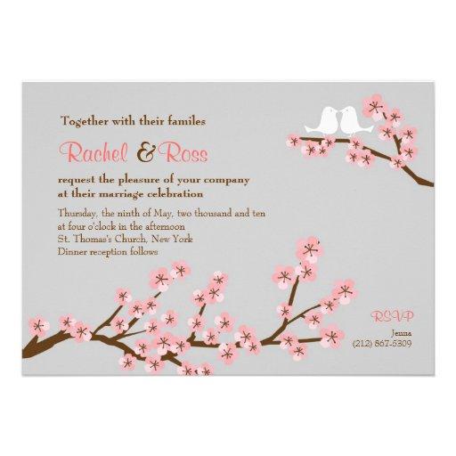 Cherry Blossom Garden Wedding 5 X 7 Invitation Card Zazzle