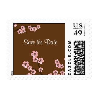Cherry Blossom Garden Wedding Postage