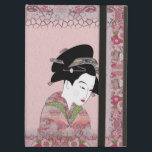 """Cherry Blossom Geisha iPad Air Cover<br><div class=""""desc"""">Available in wristlets, bandanas, binders, house and home wares, cases sleeves and caseables for mobile devices, clip boards, wall clocks, coat racks, desk organizers, draw string back packs, favor boxes, mouse pads, grocery bags, Igloo products, candy tins, journals, key chain holders, lamps, leggings, light switch plates, nails, night lights, pillows,...</div>"""