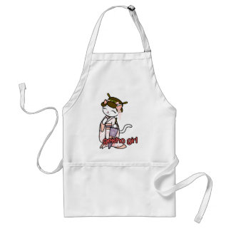 Cherry Blossom Geisha Kitty Adult Apron