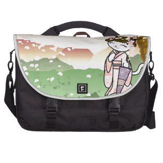 Cherry Blossom Geisha Kitty Bags For Laptop