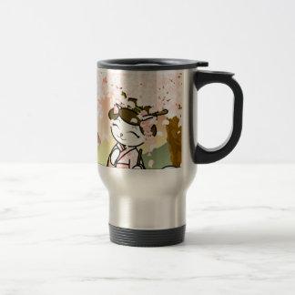 Cherry Blossom Geisha Kitty Coffee Mugs