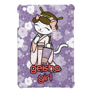 Cherry Blossom Geisha Kitty Cover For The iPad Mini