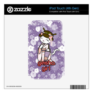 Cherry Blossom Geisha Kitty Decal For iPod Touch 4G