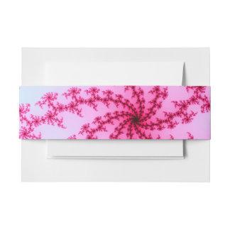 Cherry Blossom - Gentle Pink Fractal Swirls Invitation Belly Band