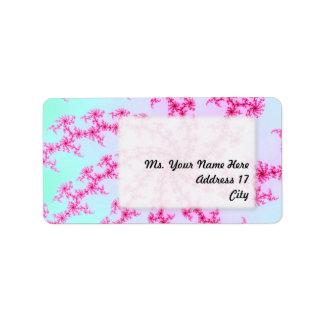 Cherry Blossom - Gentle Pink Fractal Swirls Label