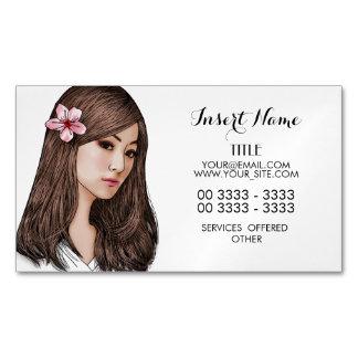 Cherry Blossom Girl Business Card Magnet