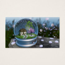 Cherry Blossom Globe Bookmarks Business Card