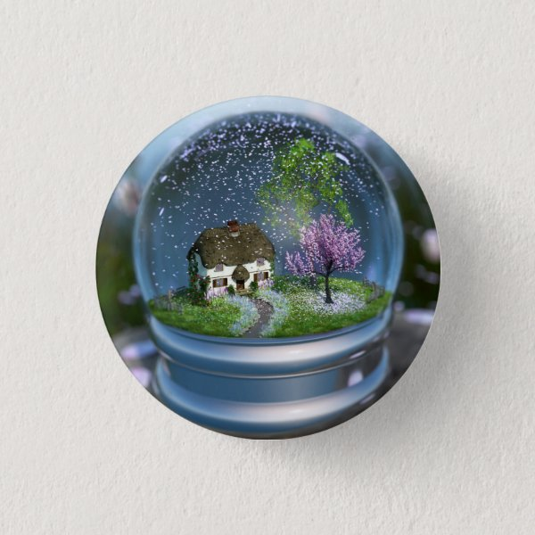 Cherry Blossom Globe Button