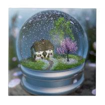 Cherry Blossom Globe Decorative Tile