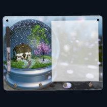 Cherry Blossom Globe Dry Erase Board