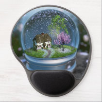 Cherry Blossom Globe Gel Mousepad
