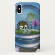 Cherry Blossom Globe iPhone Case