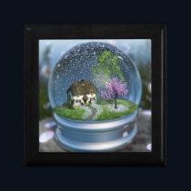 Cherry Blossom Globe Jewelry Box