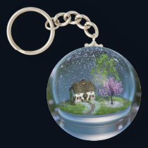 Cherry Blossom Globe Keychain