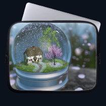 Cherry Blossom Globe Laptop Sleeve